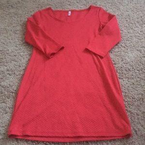 Pinkblush Red Bodycon Maternity Dress-Size Small